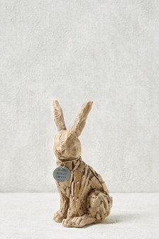 Driftwood Effect Bunny Hanging Decoration