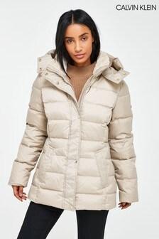 Calvin Klein Cream Lux Down Jacket