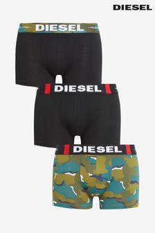Diesel® Black Camo Trunks Three Pack