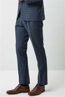 Check Skinny Fit Suit: Trousers