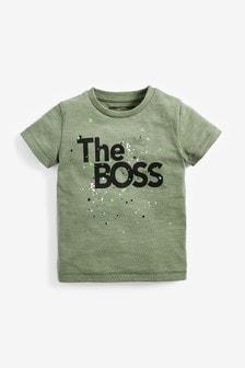 Short Sleeve The Boss T-Shirt (3mths-7yrs)