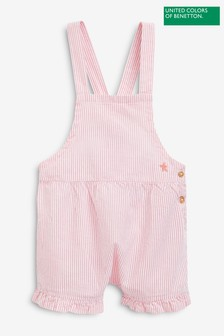 Benetton Striped Dungarees