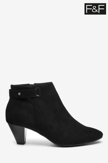 F&F Black Ankle Shoe Boots
