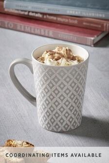 Geo Latte Mug Embossed
