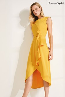 Phase Eight Yellow Rushelle Dress