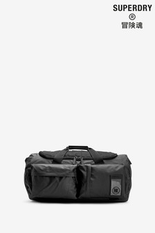 Superdry Black Tarp Kitbag