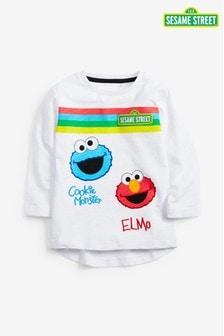 Bluzka z długim rękawem w paski Sesame Street (3m-cy-8lata)