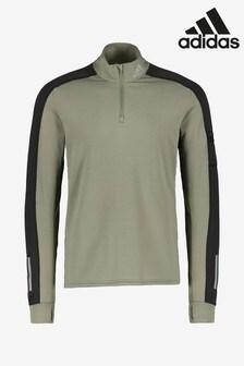 adidas Khaki Warm 1/2 Zip Top