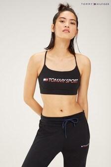 Tommy Sport Branded Low Impact Sports Bra