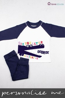Personalised See You Later Alligator Pyjamas by Loveabode