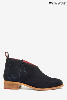 White Stuff Navy Shelly Star Suede Shoe Boots