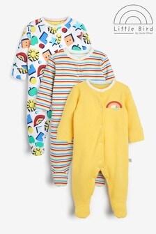 Little Bird Sleepsuits 3 Pack