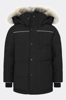 Youth Eakin Black Parka Coat