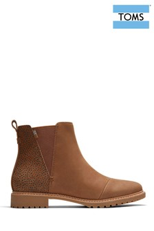 TOMS Cleo Leather Chelsea Boots