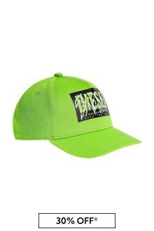 Diesel Boys Green Cotton Hat
