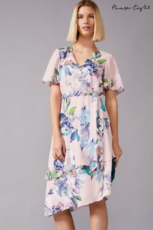 Phase Eight Pink Vida Tiered Floral Dress