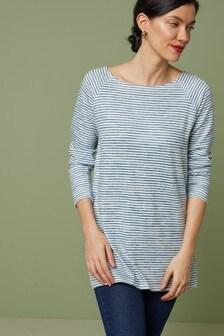 Longline Knit Look Top