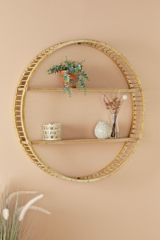 Large Rattan Shelf