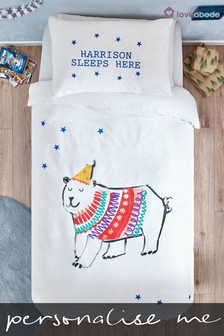 Personalised Polar Bear Duvet Cover and Pillowcase Set by Loveabode