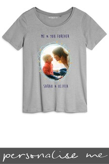 Personalised Mum Photo Printed T-Shirt