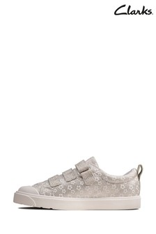 Clarks Silver City Vibe K Canvas Shoes