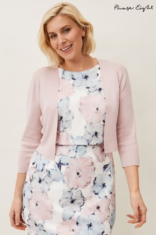 Phase Eight Pink Salma Lightweight Knitted Jacket