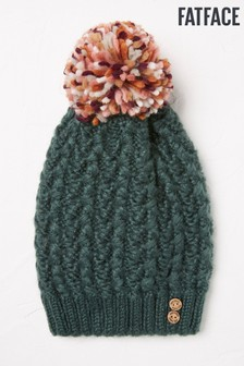 FatFace Green Cable Softie Beanie