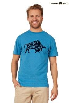 Raging Bull Blue Flock Bull T-Shirt