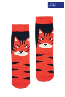 Joules Orange Eat Feet Character Socks