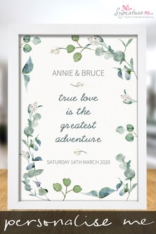 Personalised True Love A4 Print by Signature PG