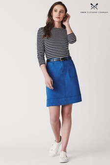 Crew Clothing Blue Daphne Denim Skirt