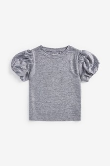 Party Bubble Sleeve Top (3-16yrs)