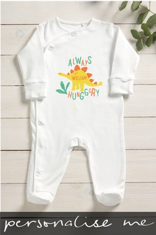 Personalised Always Hungry Sleepsuit