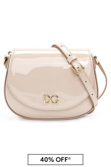 Dolce & Gabbana Kids Girls Pink Leather Bag