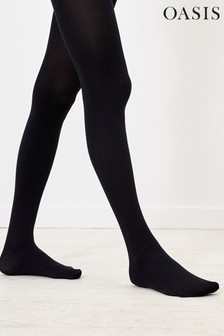 Oasis Black Opaque Tights