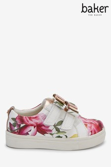 Baker By Ted Baker Floral Bow Velcro Sneakers