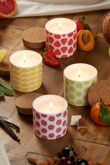 Set of 4 Fruity Candles