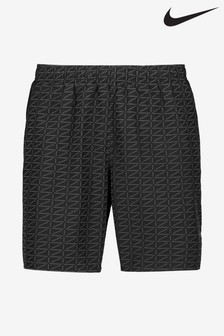 "Nike Black Challenger Run Division 7"" Shorts"