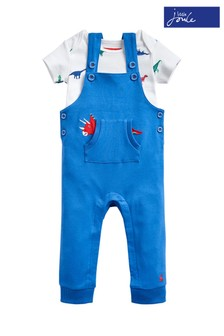 Joules Blue Wilbur Dungaree Set