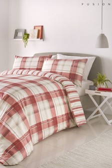 Balmoral Check Duvet Cover and Pillowcase Set by Fusion