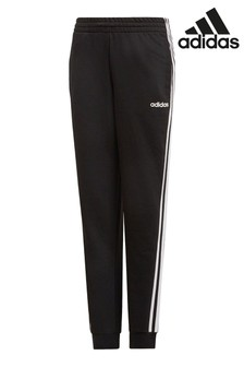 adidas Black 3 Stripe Essential Joggers