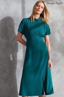Phase Eight Green Aleandra Button Detail Dress