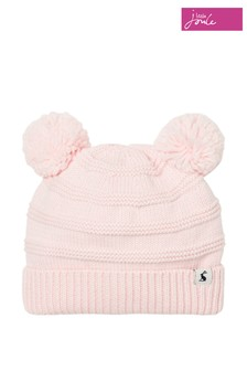 Joules Purple Knitted Pom Pom Hat