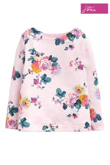 Joules Pink Harbour Print Jeresy Top