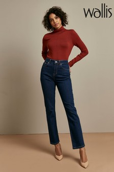 Wallis Indigo Straight Leg Jeans