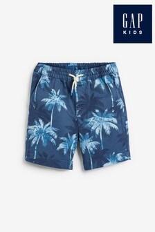 Gap Palm Tree Print Tie Waist Shorts