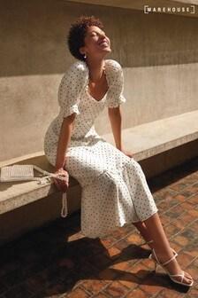 Warehouse Black Spot Prairie Dress