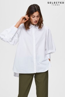 Selected Femme White Puff Sleeve Shirt