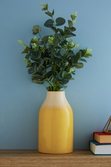 Reactive Ochre Ceramic Vase