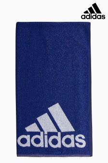 adidas Navy 3 Stripe Towel
